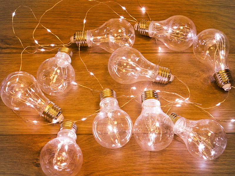 Гирлянда Neon-Night Ретро-лампы 3m Warm White 303-076