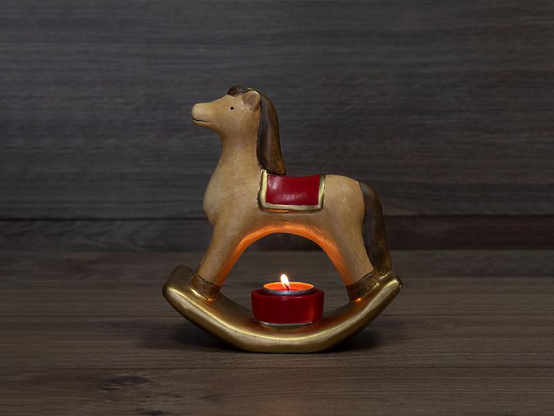Керамический подсвечник Neon-Night Лошадка 18.2х7.2х19.3cm 501-071