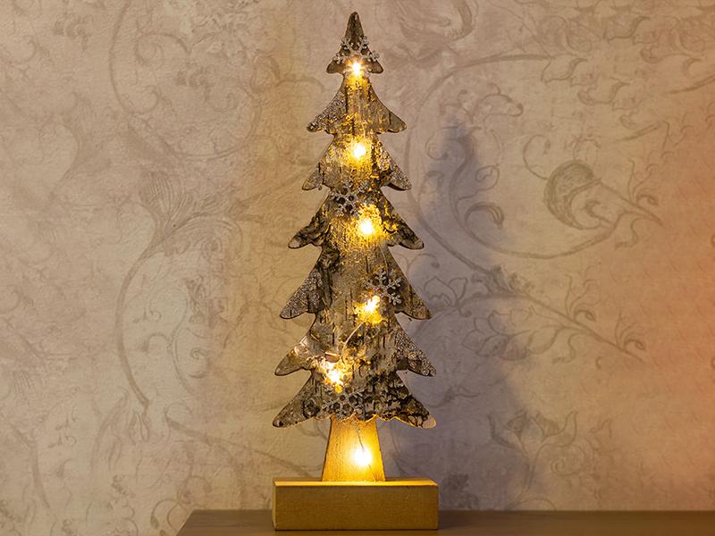 Светящееся украшение Neon-Night Ель со снежинками 9.5x6x31cm 504-013