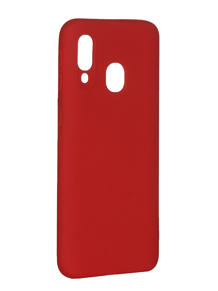 Чехол Pero для Samsung Galaxy A40 Soft Touch Red СС01-A40R