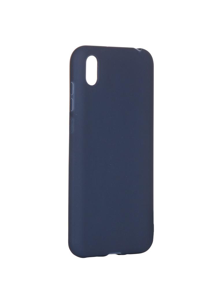 Аксессуар Чехол Pero для Honor 8S Soft Touch Blue CC01-H8SBL