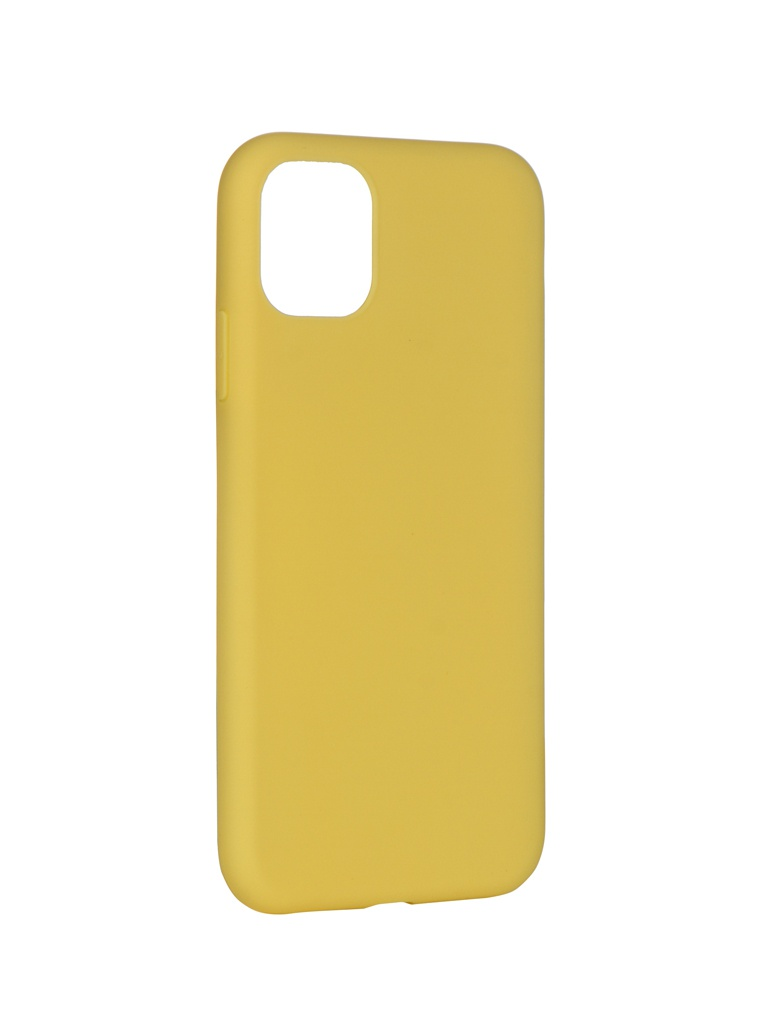 Чехол Pero для APPLE iPhone 11 Soft Touch Yellow CC01-I6119Y