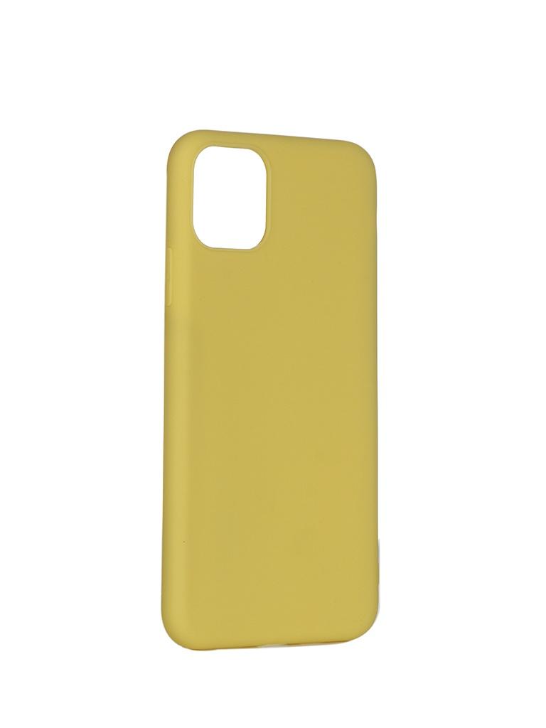 Чехол Pero для APPLE iPhone 11 Pro Max Soft Touch Yellow CC01-I6519Y