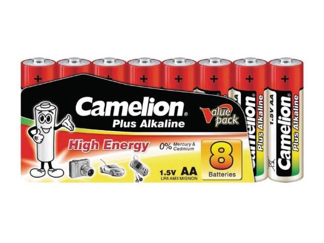 Батарейка AA - Camelion Alkaline LR6-SP8 Plus (8 штук)