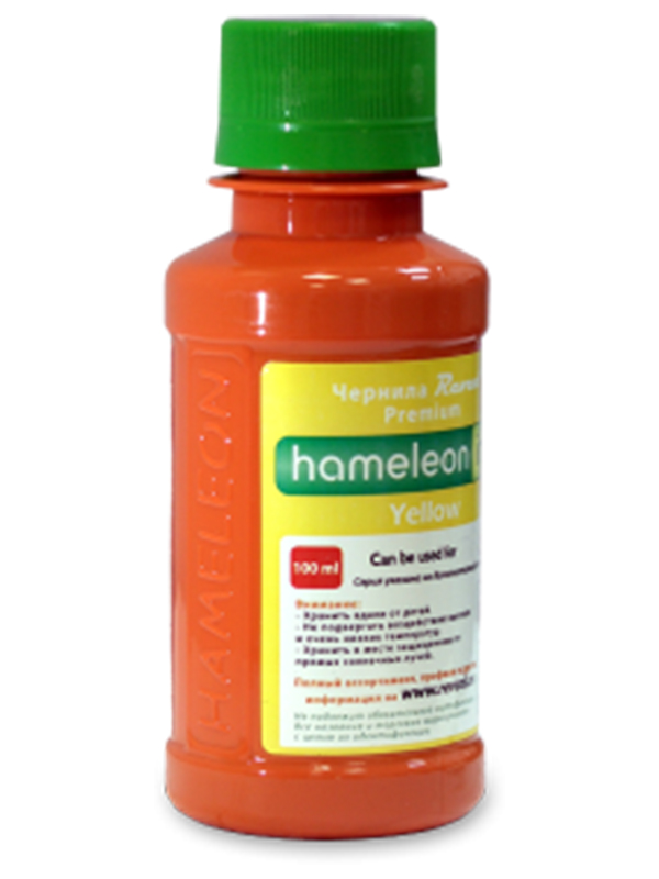 Чернила Revcol Hameleon C825Y DYE 100ml Yellow Dye 127745 для Canon Pixma IP4840/MG5140/5240/MX884/IX6540/IP4880/MX876