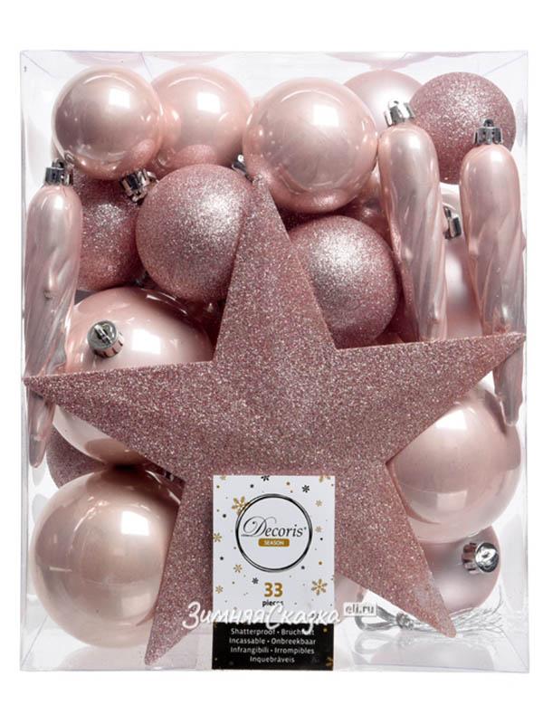 Kaemingk Набор украшений Новогодний Pink 33шт 023378