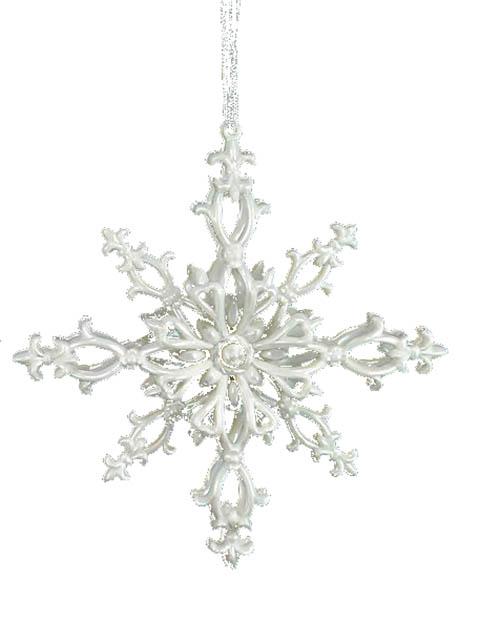 Украшение Crystal Deco Снежинка сахарная 12cm 150056