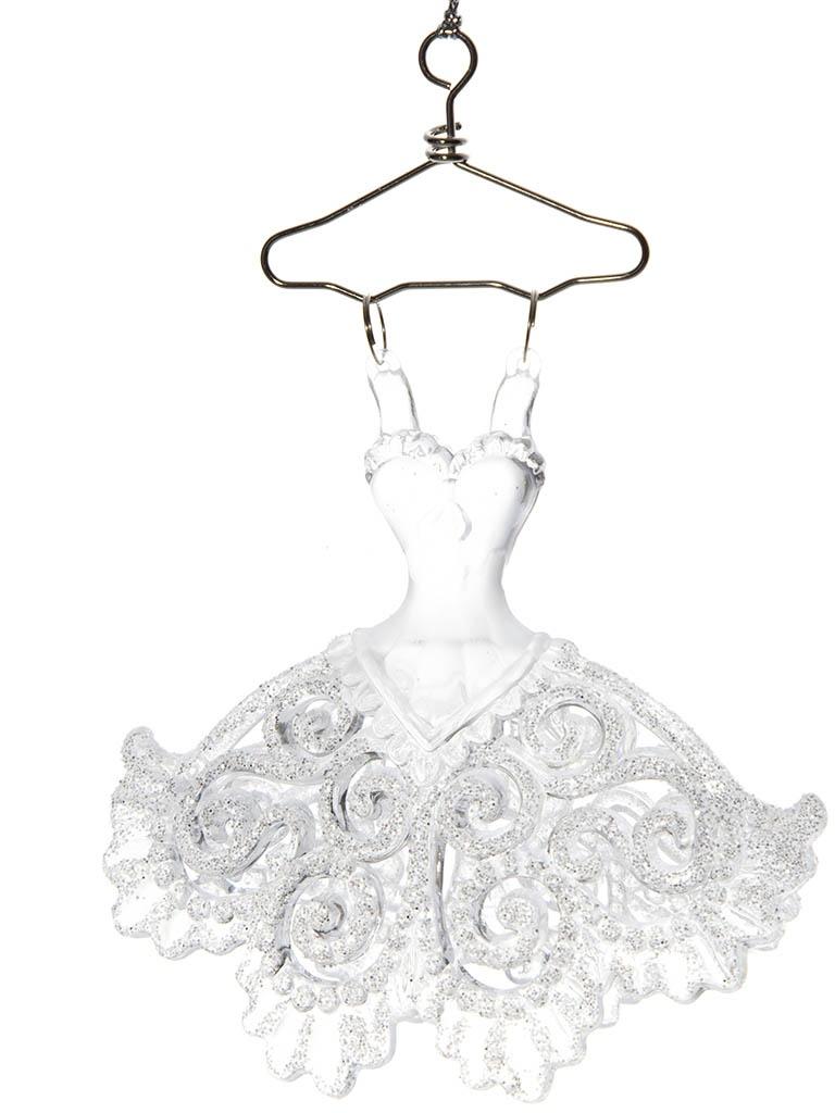 Украшение Crystal Deco Ажурное платье 12cm Silver 150049