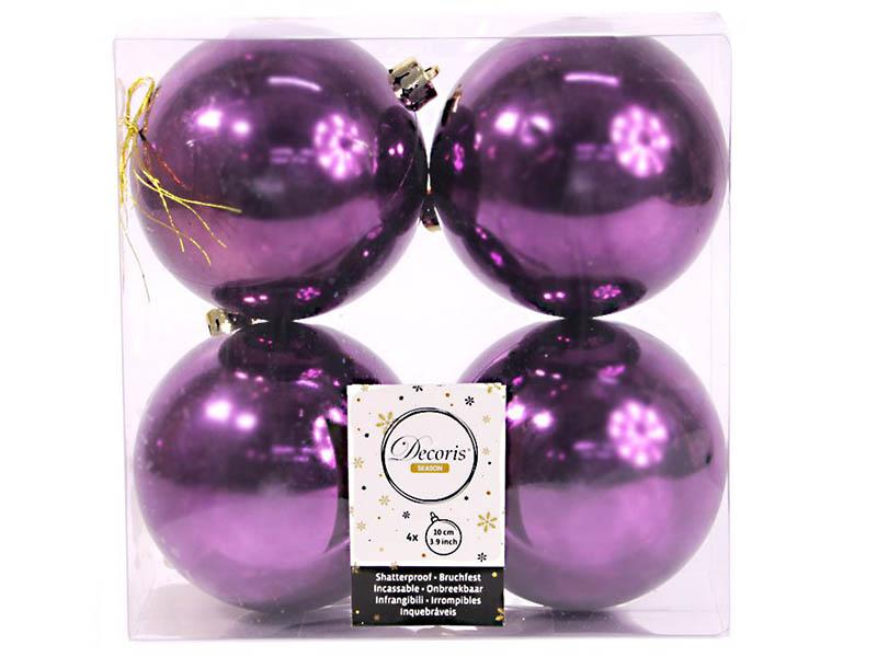 Украшение Kaemingk Набор шаров Violet 4шт 958131s