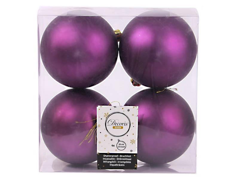 Украшение Kaemingk Набор шаров Violet 4шт 958131m