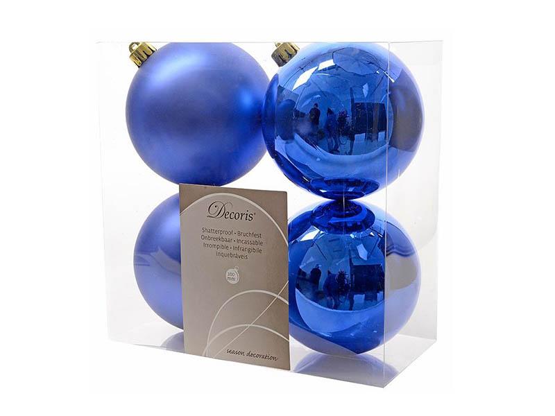 Украшение Kaemingk Набор шаров King Blue 4шт 906432s