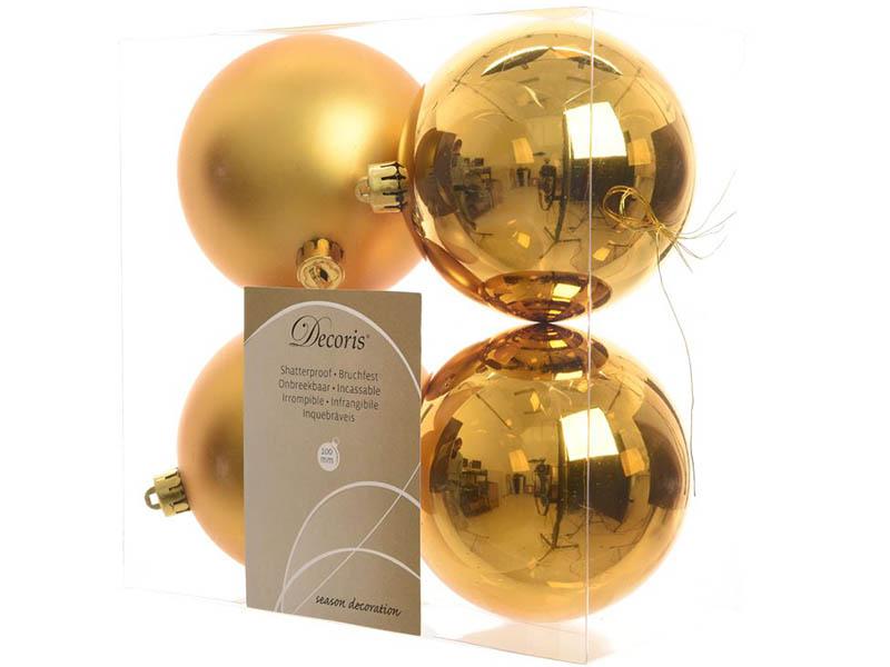 цена на Украшение Kaemingk Набор шаров Gold 4шт 906433