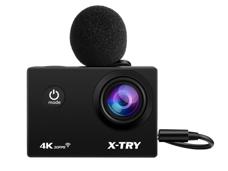 Экшн-камера X-TRY XTC194 EMR 4K WiFi Black экшн камера x try xtc197 emr 4k wifi