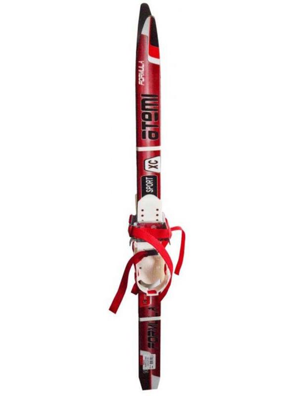 купить Лыжи Atemi Formula Step 90cm без лыжных палок Red крепление комби дешево