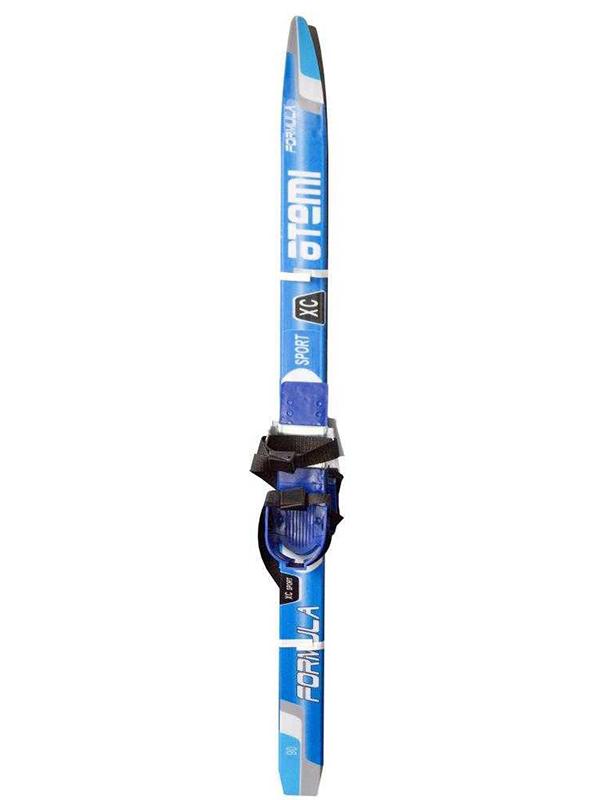 Лыжи Atemi Formula Step 90cm без лыжных палок Blue крепление комби