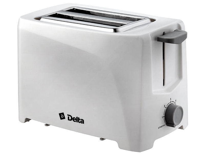 Тостер Delta DL-6900 White smile та 1840 white тостер