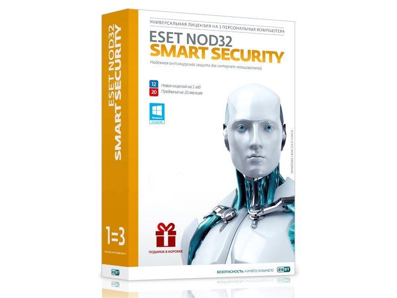 Программное обеспечение ESET NOD32 Smart Security + Bonus + расширенный функционал - универсальная лицензия на 1 год на 3PC или продление на 20 месяцев NOD32-ESS-1220-BOX-1-1<br>