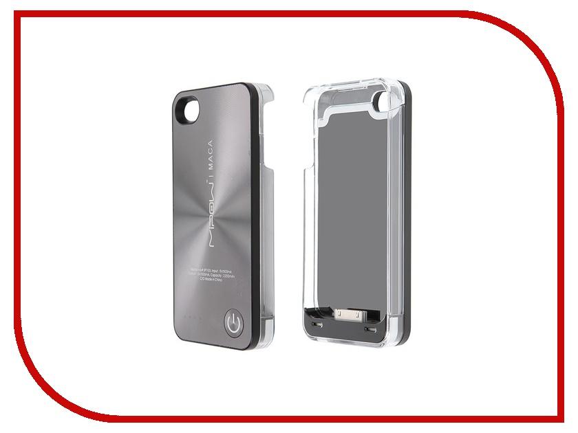 Аксессуар Аккумулятор-чехол MiPow Maca SP103A для iPhone 4 / 4S Grey<br>