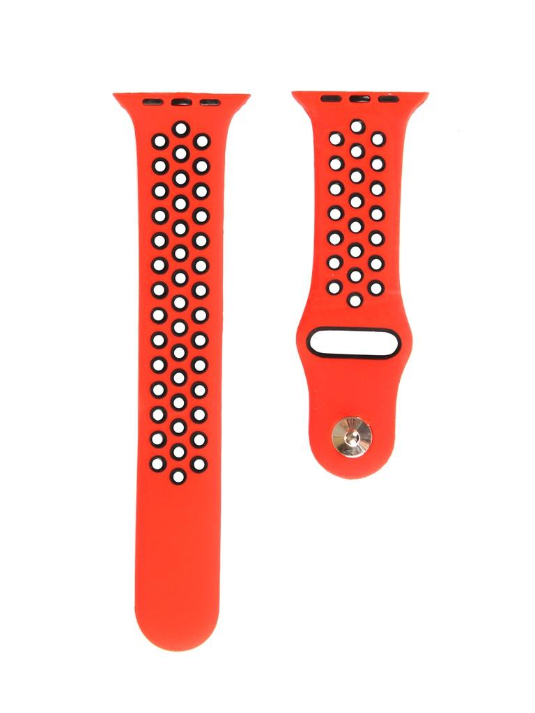 Аксессуар Ремешок mObility для Apple Watch 42/44mm Red Дизайн 1 УТ000018907