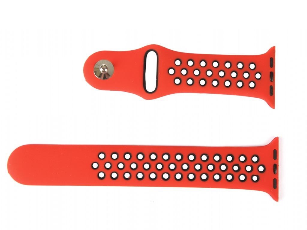 Аксессуар Ремешок mObility для Apple Watch 38/40mm Red Дизайн 1 УТ000018902