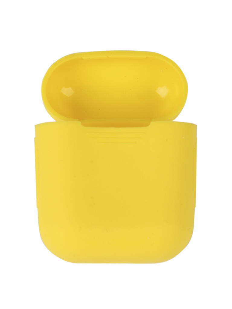 Чехол mObility Apple AirPods Silicone Yellow УТ000018857