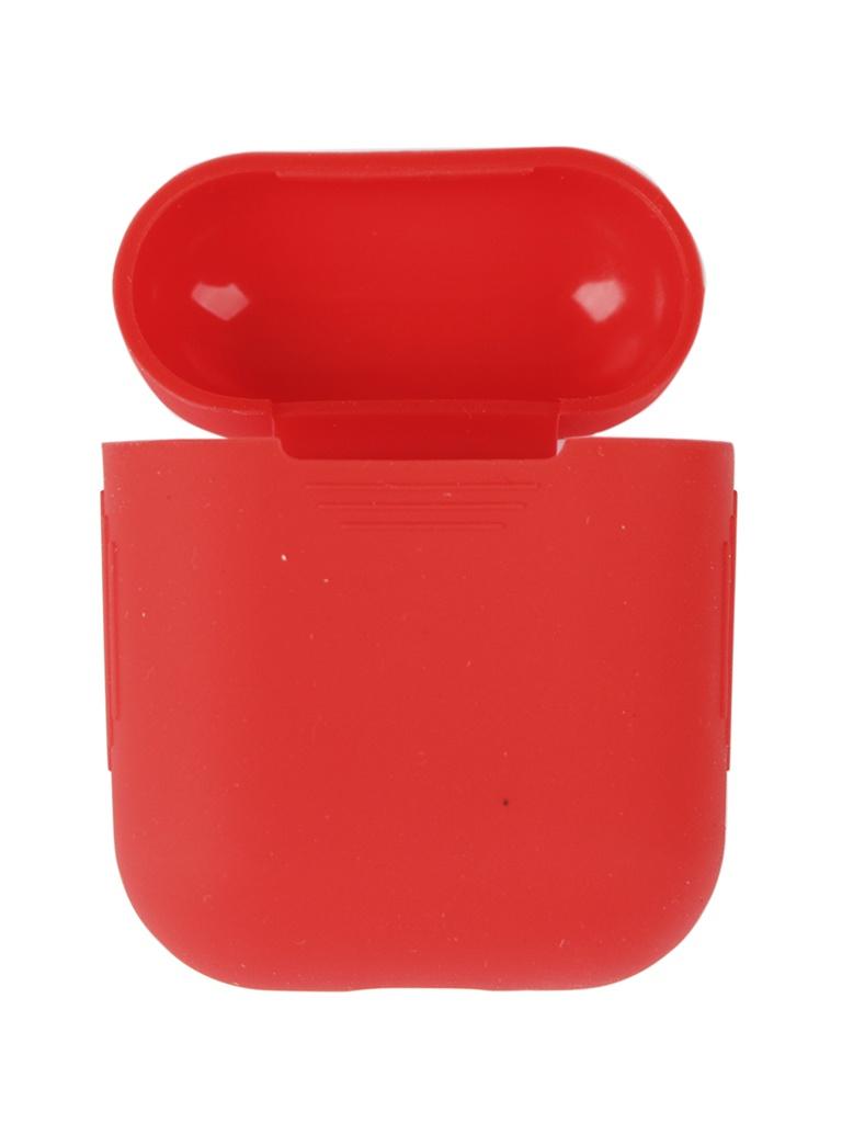 Аксессуар Чехол mObility Apple AirPods Silicone Red УТ000018854