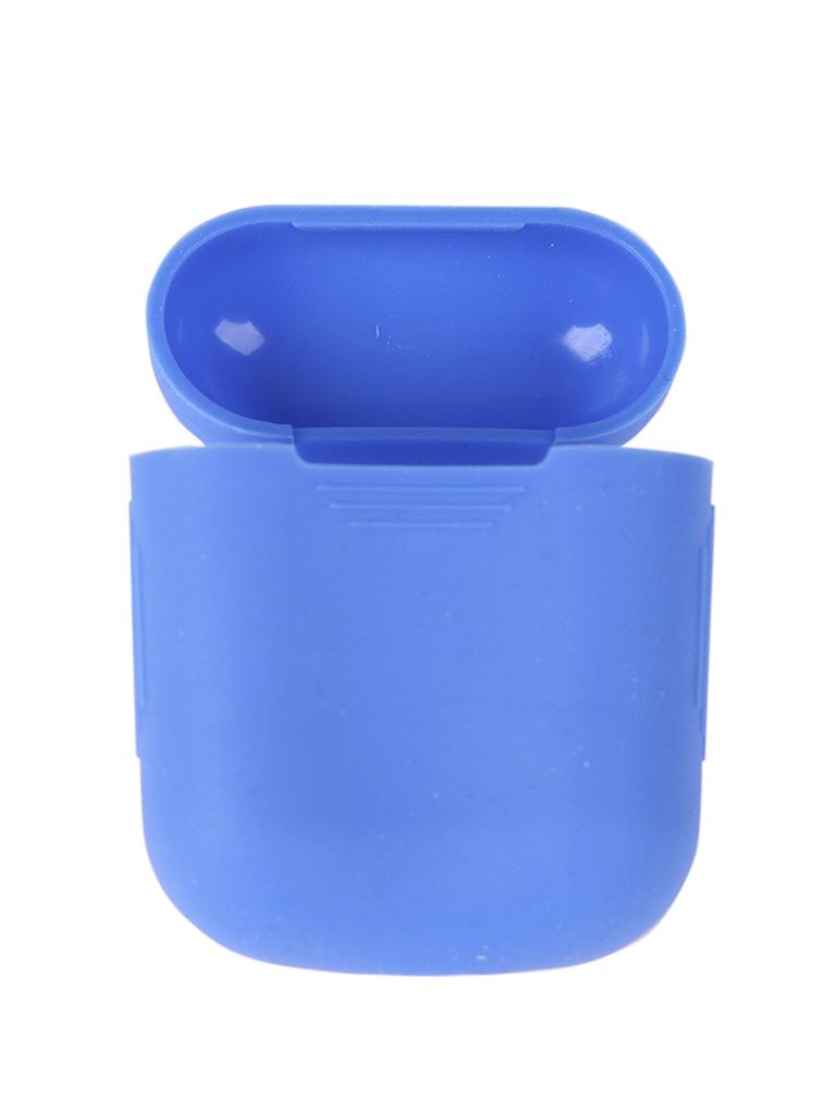 Аксессуар Чехол mObility Apple AirPods Silicone Blue УТ000018858