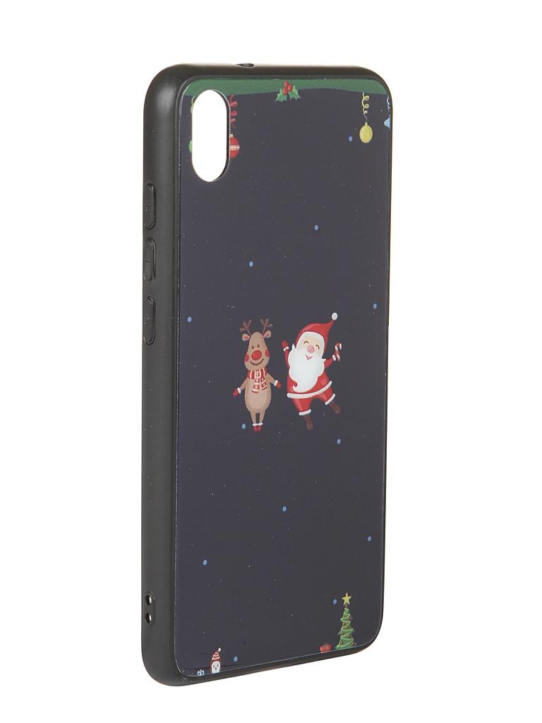 Аксессуар Чехол Zibelino для Xiaomi Redmi 7A NG Олень и снеговик ZSM-NG-XIA-7A-OL&S
