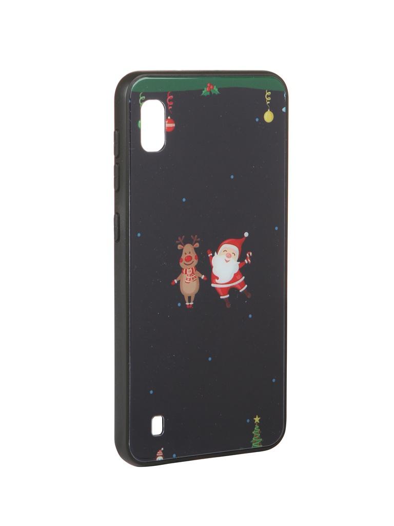 Чехол Zibelino для Samsung Galaxy A10 A105 NG Олень и снеговик ZSM-NG-SAM-A10-OL&S