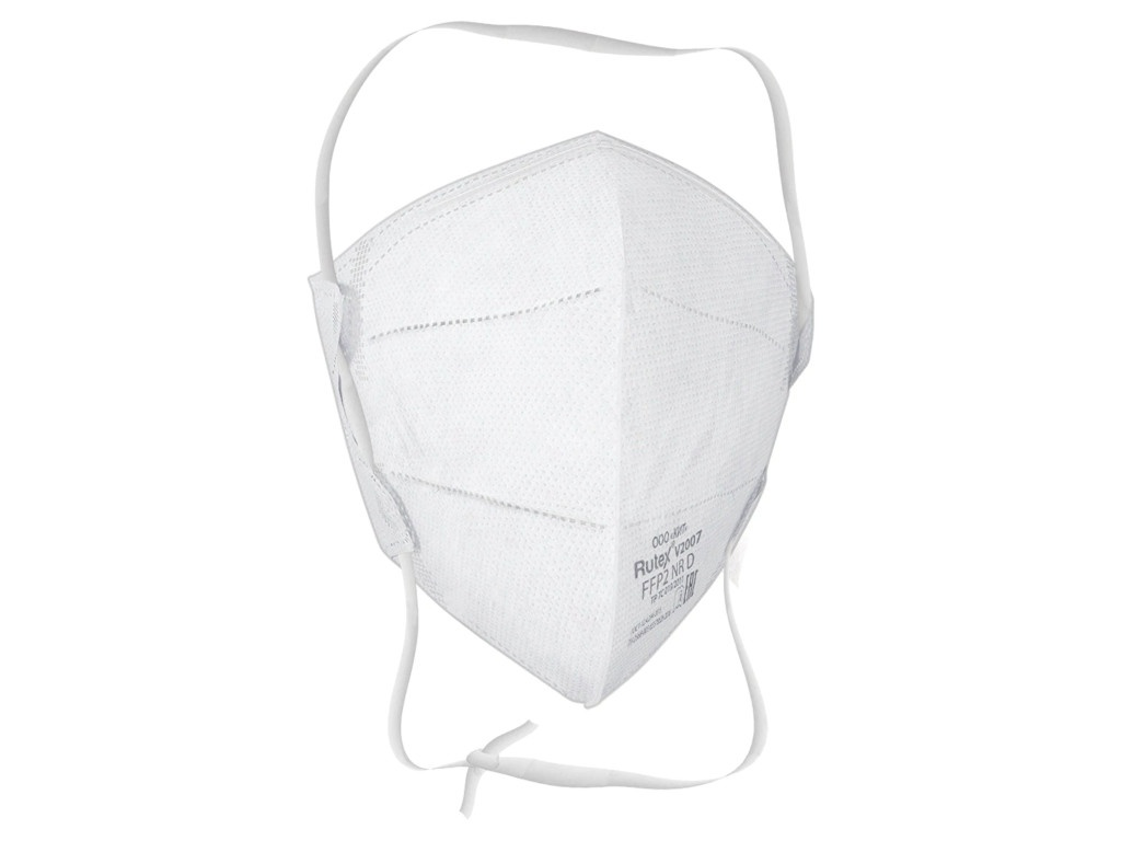 Защитная маска Rutex V2007 класс защиты FFP2 (до 12 ПДК) без клапана