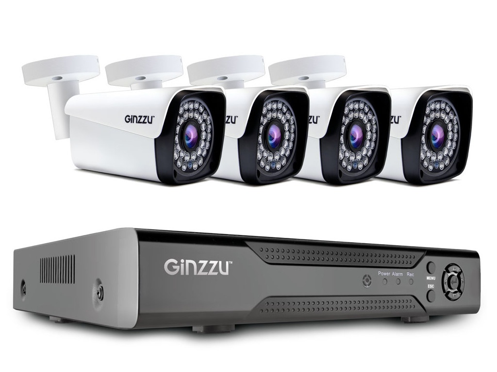 цена на Комплект видеонаблюдения Ginzzu HK-441N