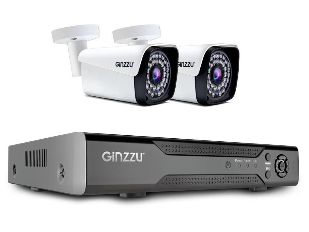 цена на Комплект видеонаблюдения Ginzzu HK-421N