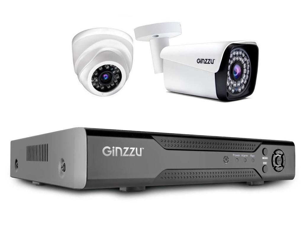 Комплект видеонаблюдения Ginzzu HK-420N