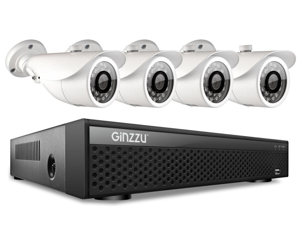 Комплект видеонаблюдения Ginzzu HK-448D цены онлайн