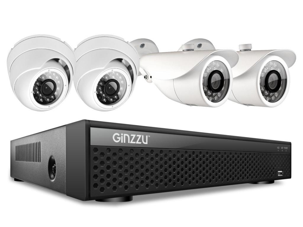 Комплект видеонаблюдения Ginzzu HK-447D