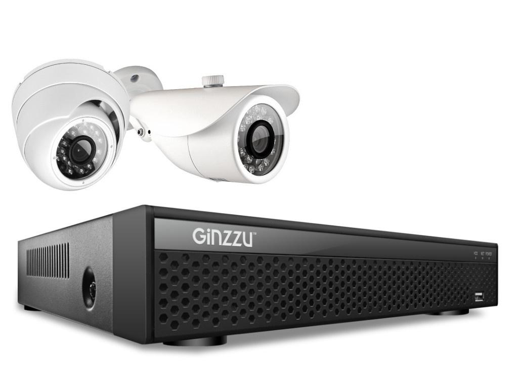 Комплект видеонаблюдения Ginzzu HK-428D