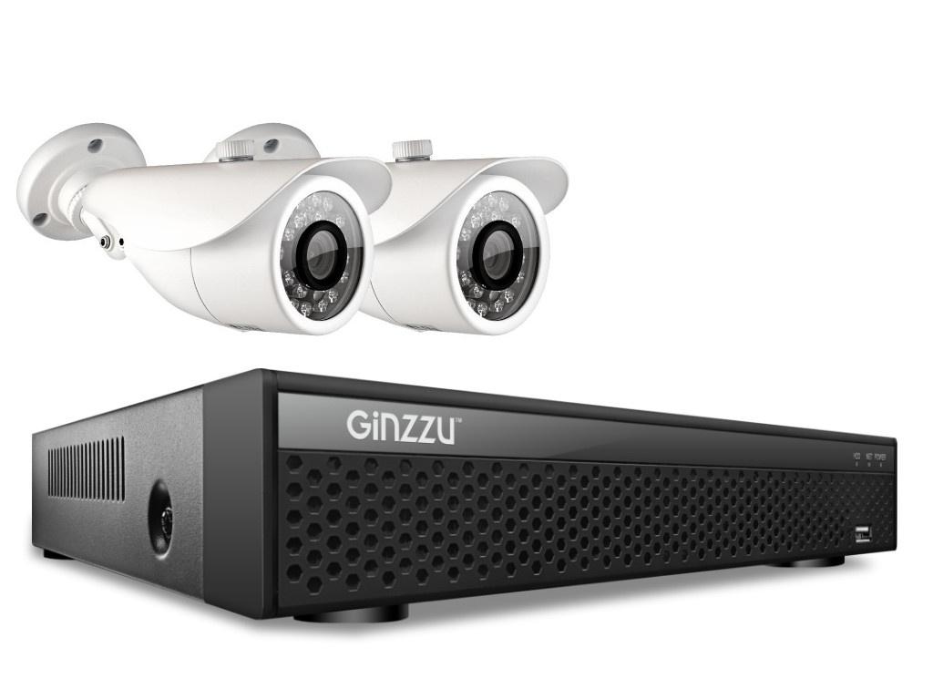 Комплект видеонаблюдения Ginzzu HK-427D