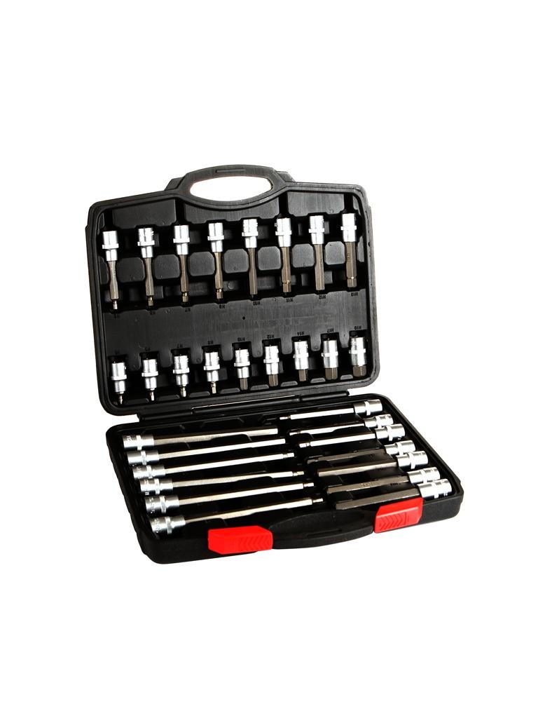 Инструмент Набор головок со вставками AV Steel Hex 5-19mm L55-200mm 30 предметов AV-921065