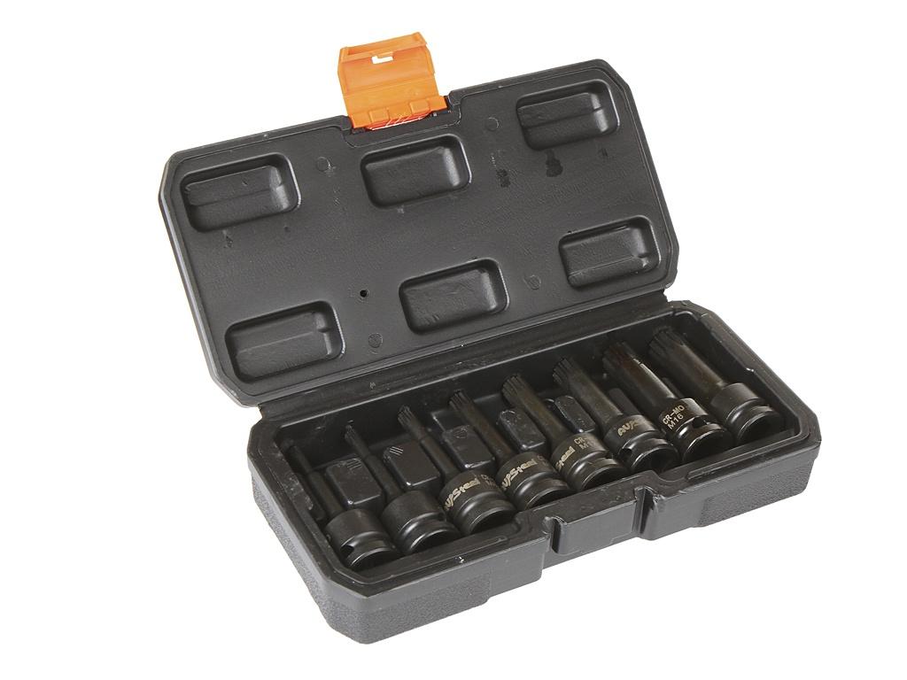 Инструмент Набор головок ударных 1/2 AV Steel Spline L78mm M5-M18 8 предметов AV-726408
