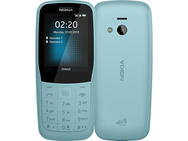 Сотовый телефон Nokia 220 4G Dual Sim Blue мобильный телефон nokia 220 4g dual sim blue бирюзовый