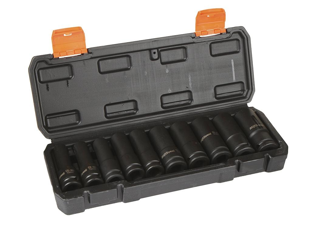 Инструмент Набор ударных удлиненных головок AV Steel 10-24mm 1/2 10 предметов AV-721410