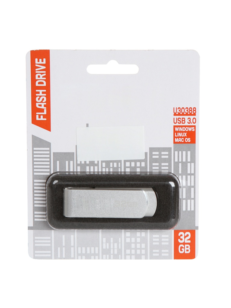 USB Flash Drive 32Gb - Reflect U30388 Silver RFFD-32GB-U30388SL