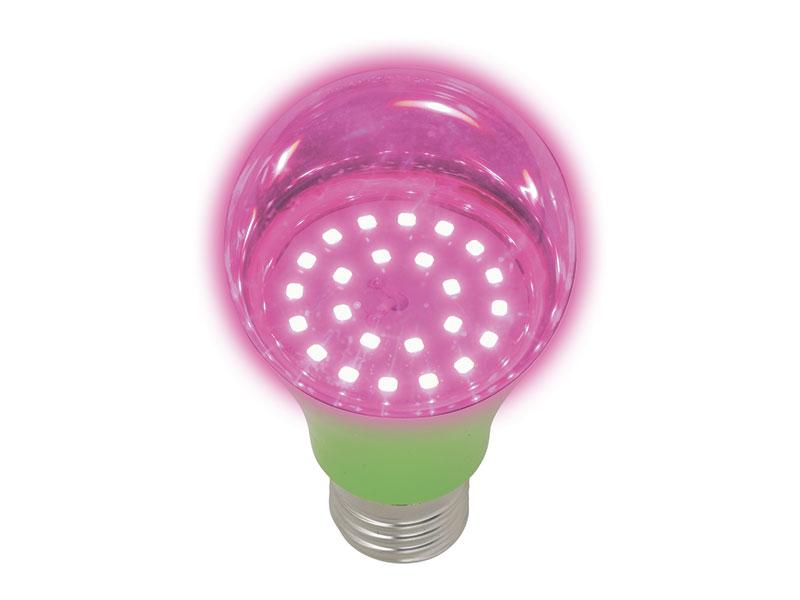 Светодиодная фитолампа Uniel LED-A60-8W/SPSB/E27/CL PLP30GR UL-00004581