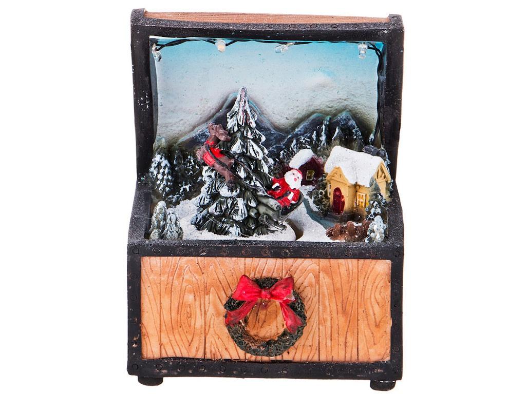Новогодний сувенир Lefard Рождественский сундук с подарками 868-104 цена 2017