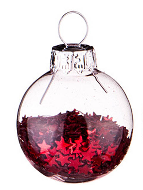 Набор шаров Lefard Красные блестки 3cm 12шт 862-261