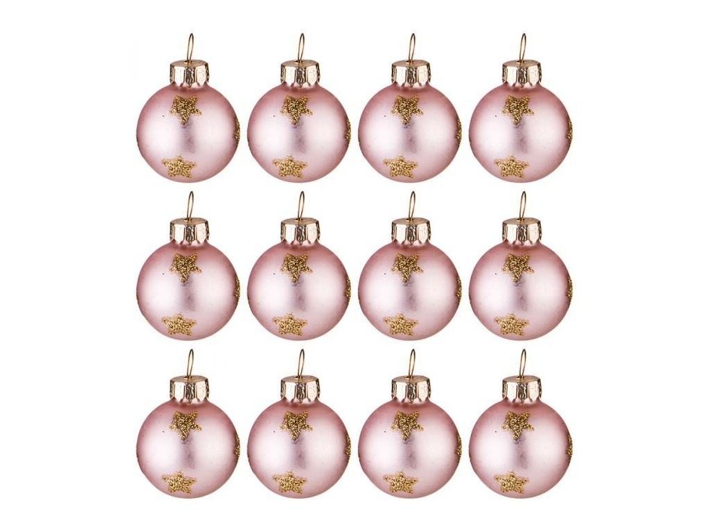 Украшение Lefard Набор Розовые шарики 3cm 12шт 862-258
