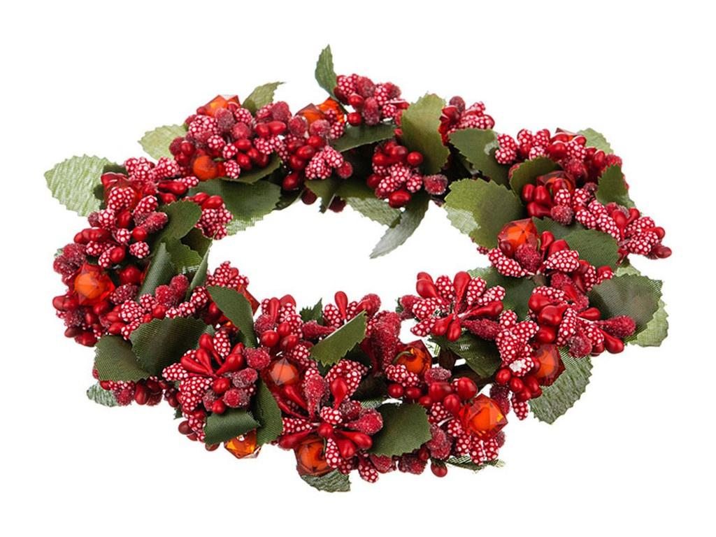 Хвойный декор Lefard Новогодний венок 16cm 241-3107