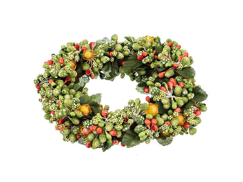 цены Хвойный декор Lefard Новогодний венок 16cm 241-3110