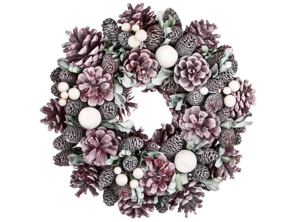 Хвойный декор Lefard Новогодний венок 26cm 256-111