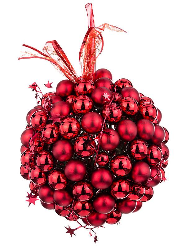 Украшение Lefard Виноград со звездами Red 749-126